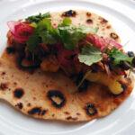 Tacos med svinekød og grillet ananas