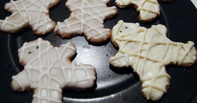 Mumie-småkager til Halloween