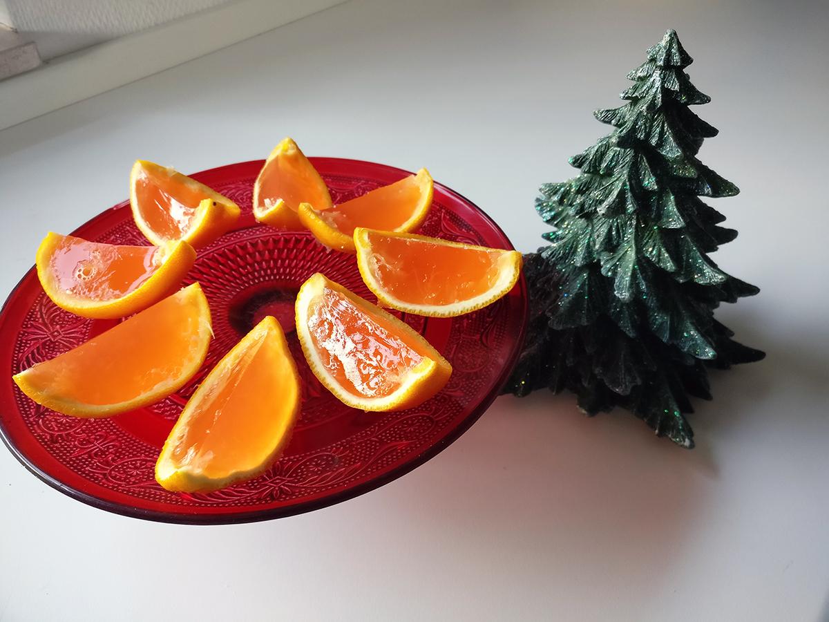 Geléshots med appelsin og Cointreau