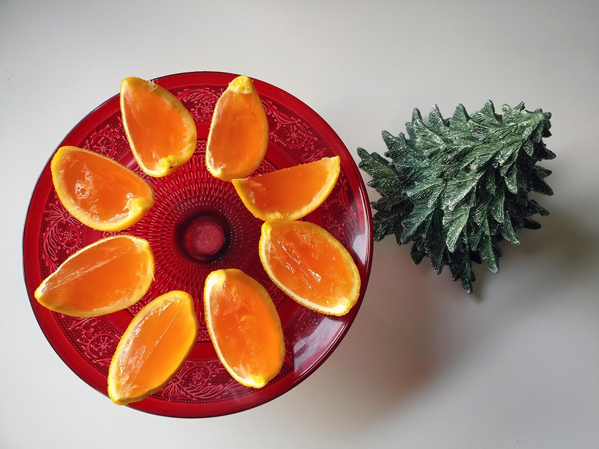 appelsingelé, geléshots, appelsin, Cointreau, grenadine, rørsukker, drink, gelédrink, husblas