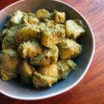 Kartoffelsalat med grønkålscreme
