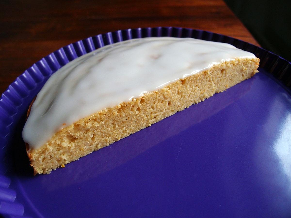 citronmåne, citronkage, citrondessert, dessert, kage, marcipan, smør, rørsukker, æg, hvedemel, bagepulver, vanilje, citron, flormelis