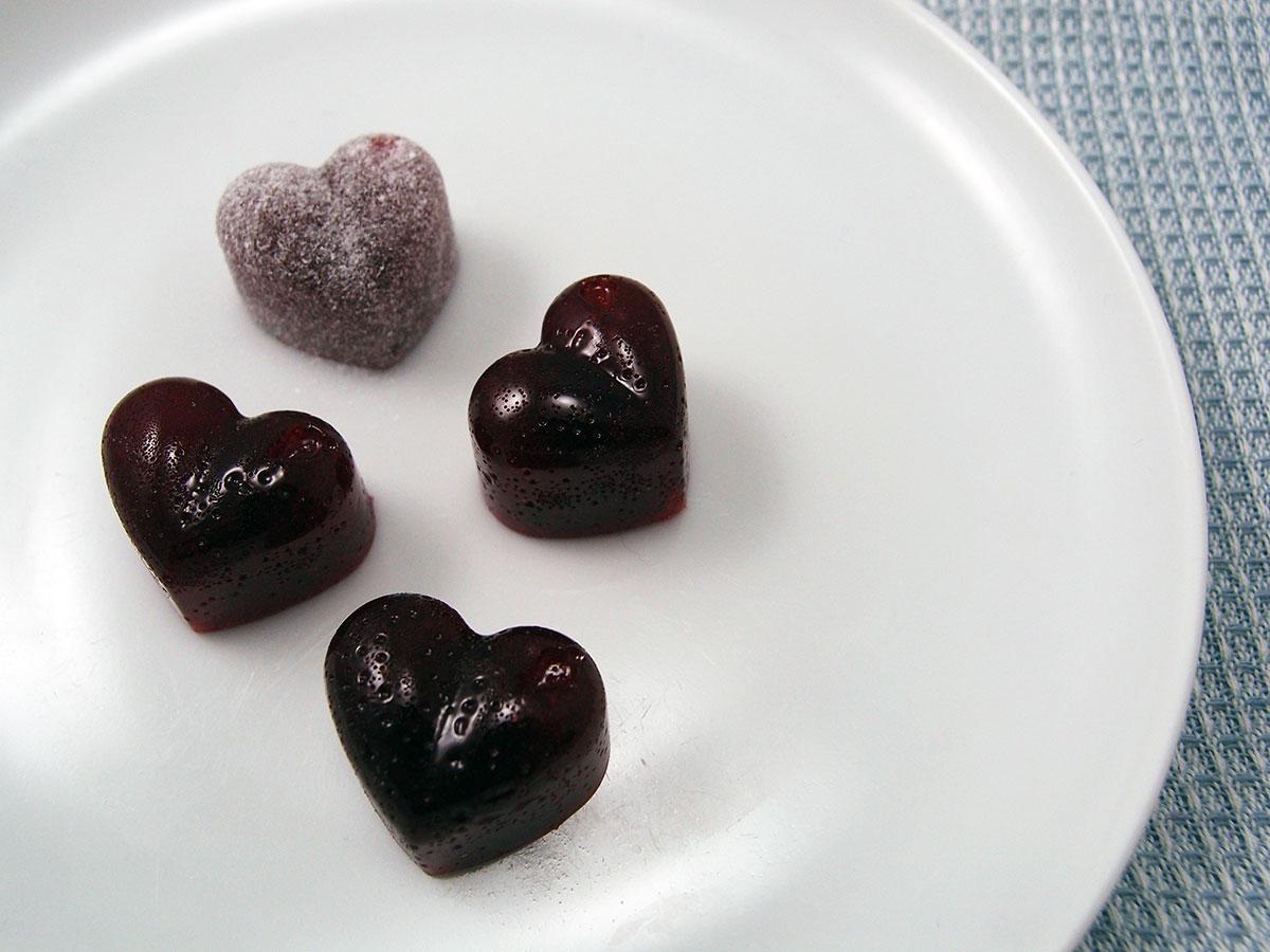 Hindbær-vingummi – hjemmelavede