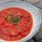 Flamberet tomatsuppe