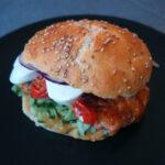 Tomatburger med mozzarella