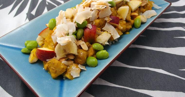 Ristaffel med kylling og æble