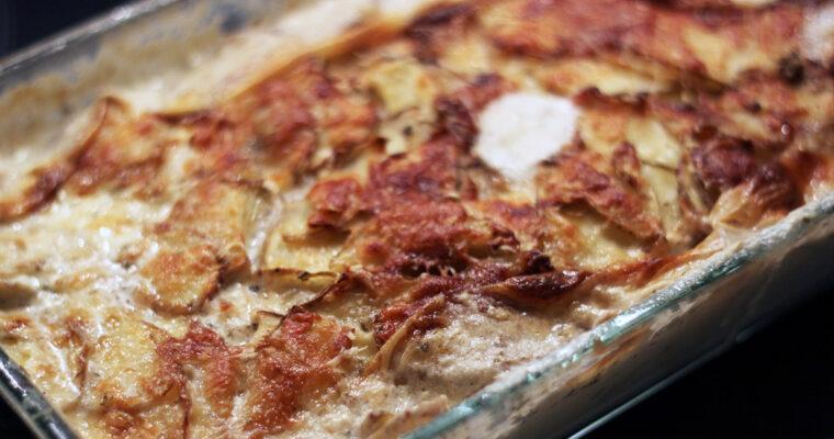Krydrede flødekartofler med pastinakker