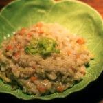 Grøntsagsrisotto med gulerødder og porre