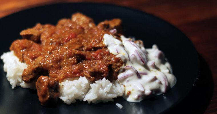 Lamb bhuna – indisk lammeret