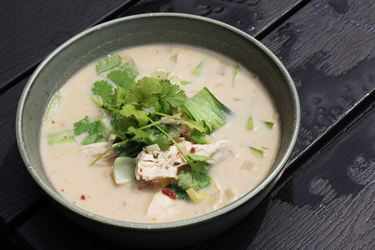 Pak choy suppe med kylling
