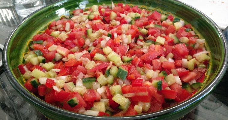 Piccadillo-salat til skaldyrsretter