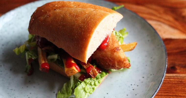 Gatsby sandwich med paneret fisk