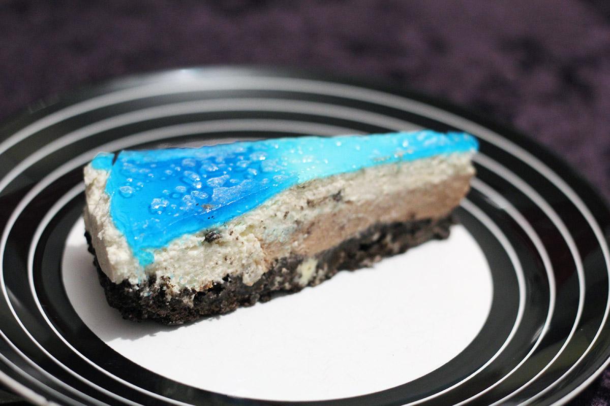 Festlig cheesecake med hemmeligt nougatlag