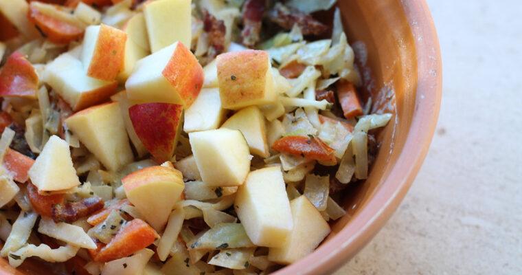 Vintermad med kål, gulerødder og bacon