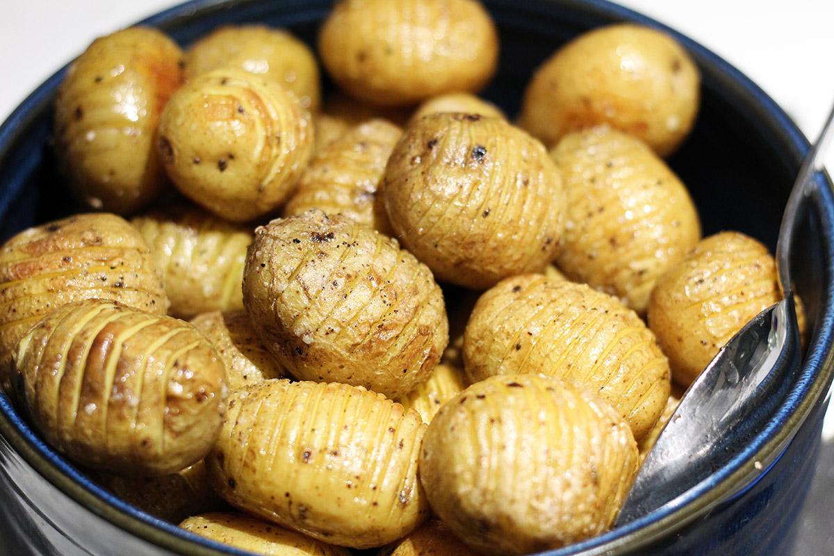 hasselbach kartofler, smør