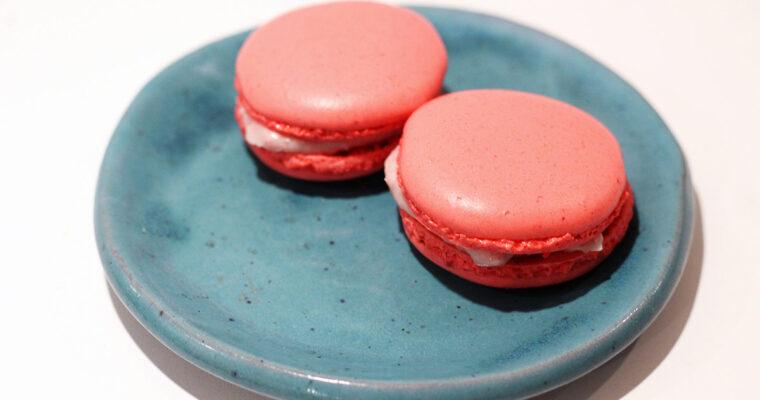 Hindbær-macarons med creme