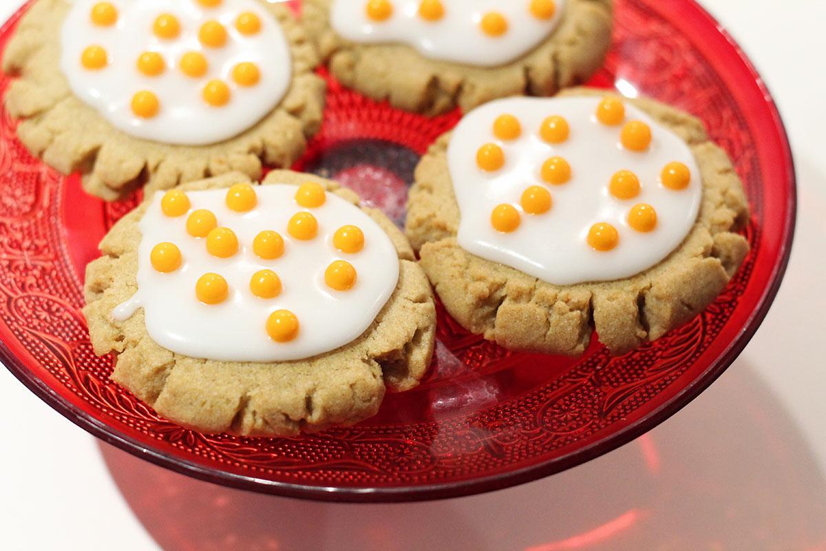 saftige cookies, småkager, smør, rapsolie, rørsukker, flormelis, bagepulver, æg, vanilje, hvedemel