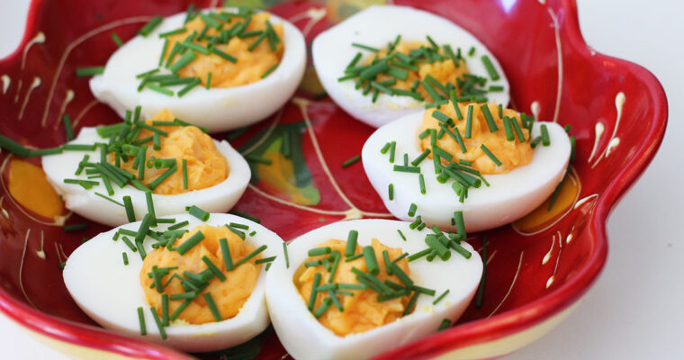 Deviled eggs med chili