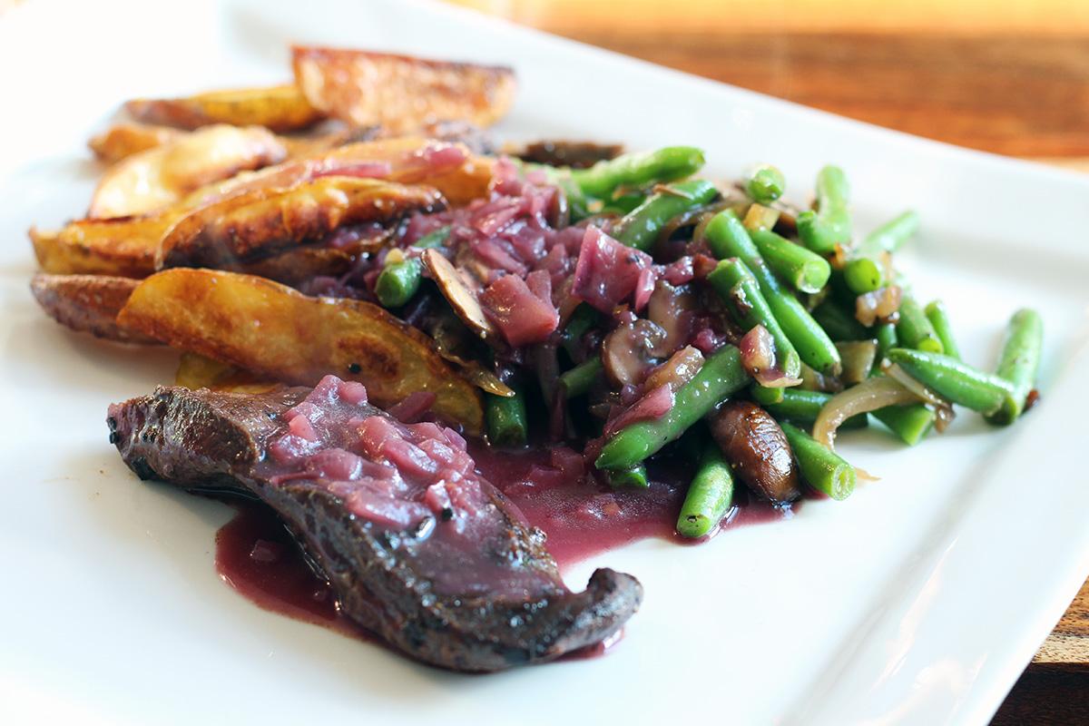 Portvinssauce til rødt kød