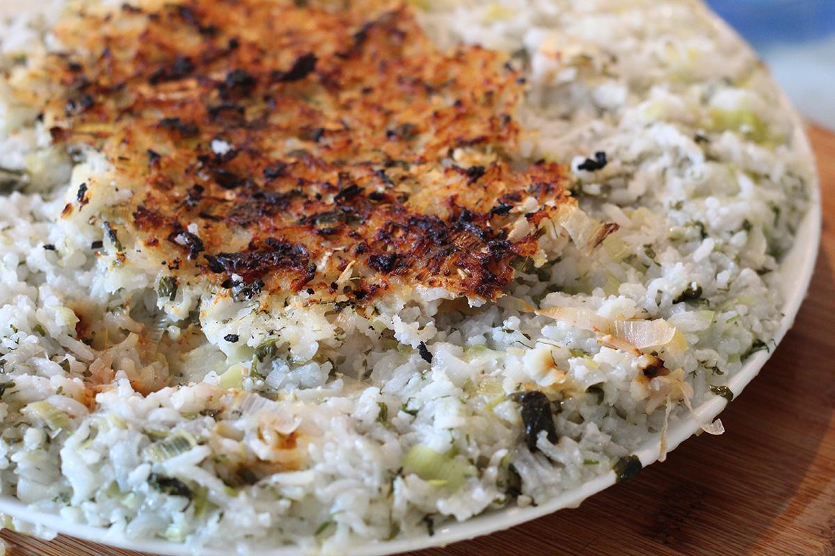 tahdig, iransk risret, ris