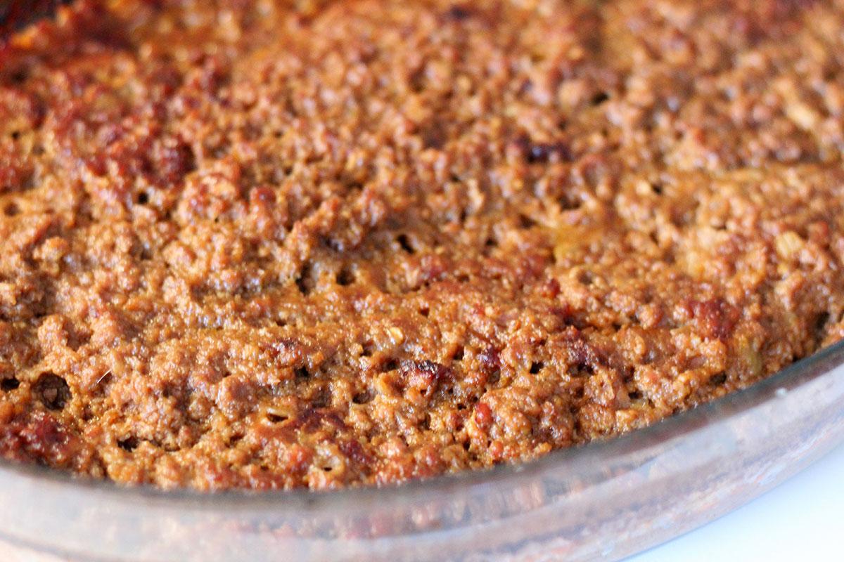 vorschmack, oksekød, lammekød, løg, tomater, ansjoser, bouillon