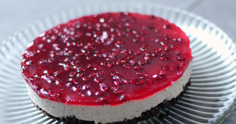 Granatæble-cheesecake