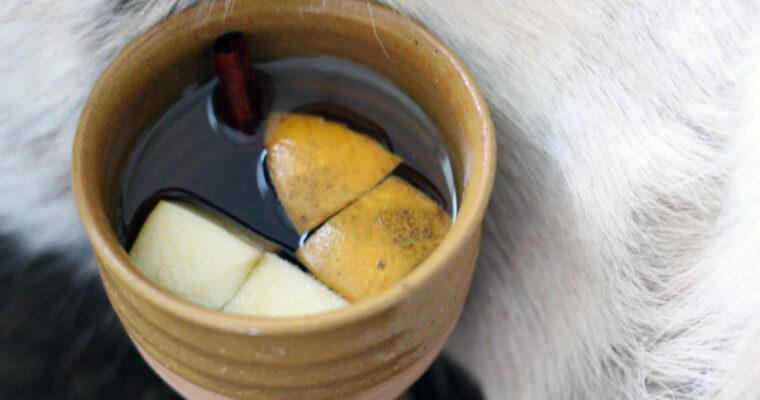 Varm mjød med æble
