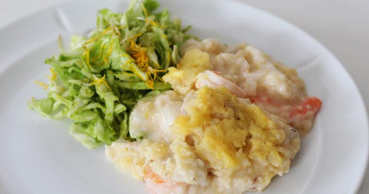 Fish pie med torsk og skaldyr