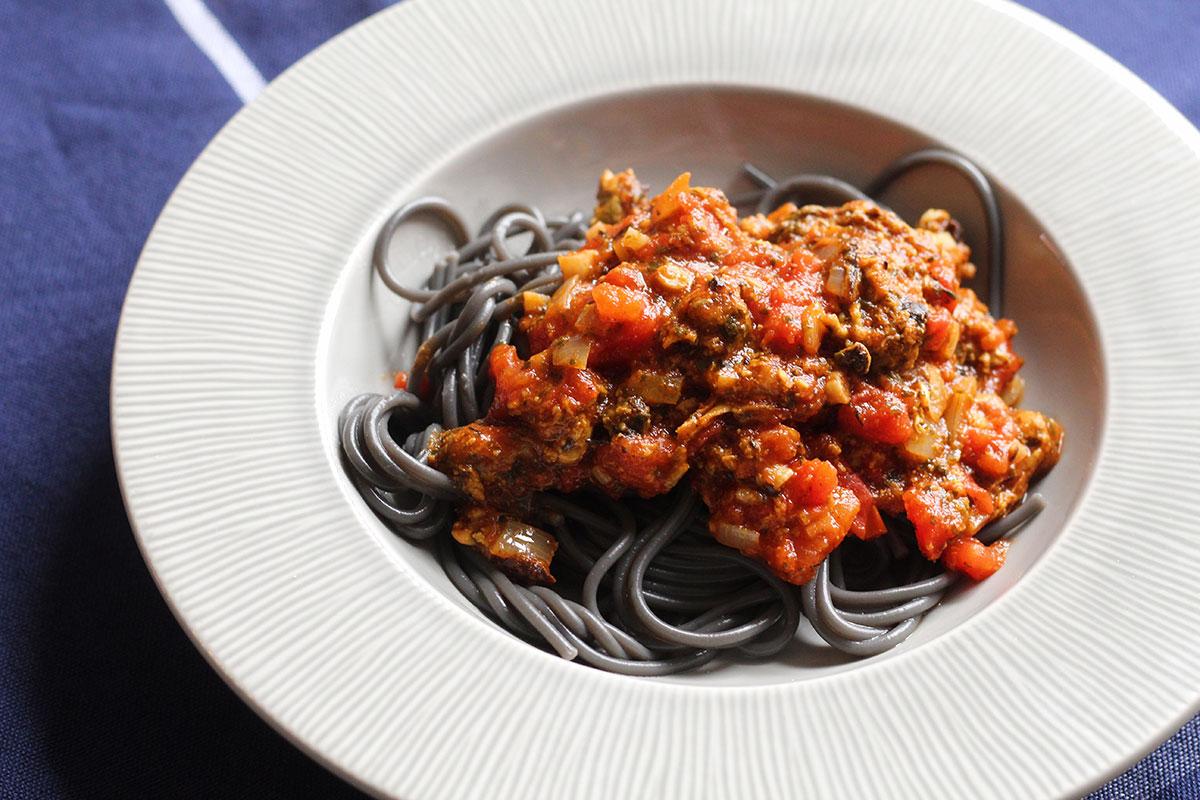 Muslinger med pasta
