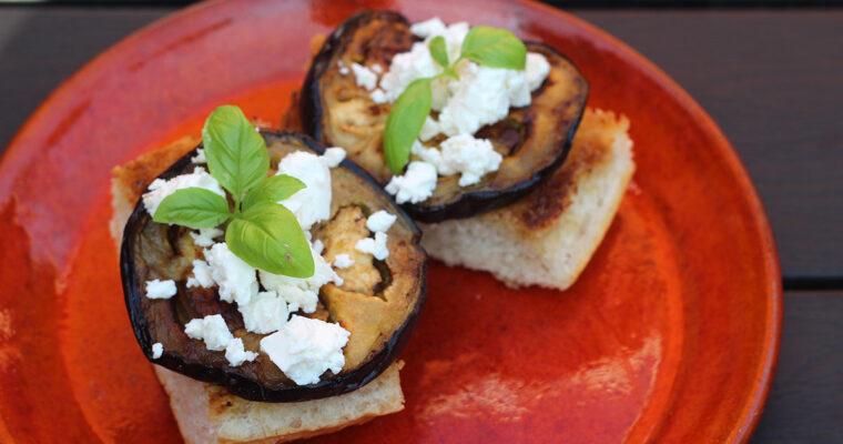 Grillede auberginemadder
