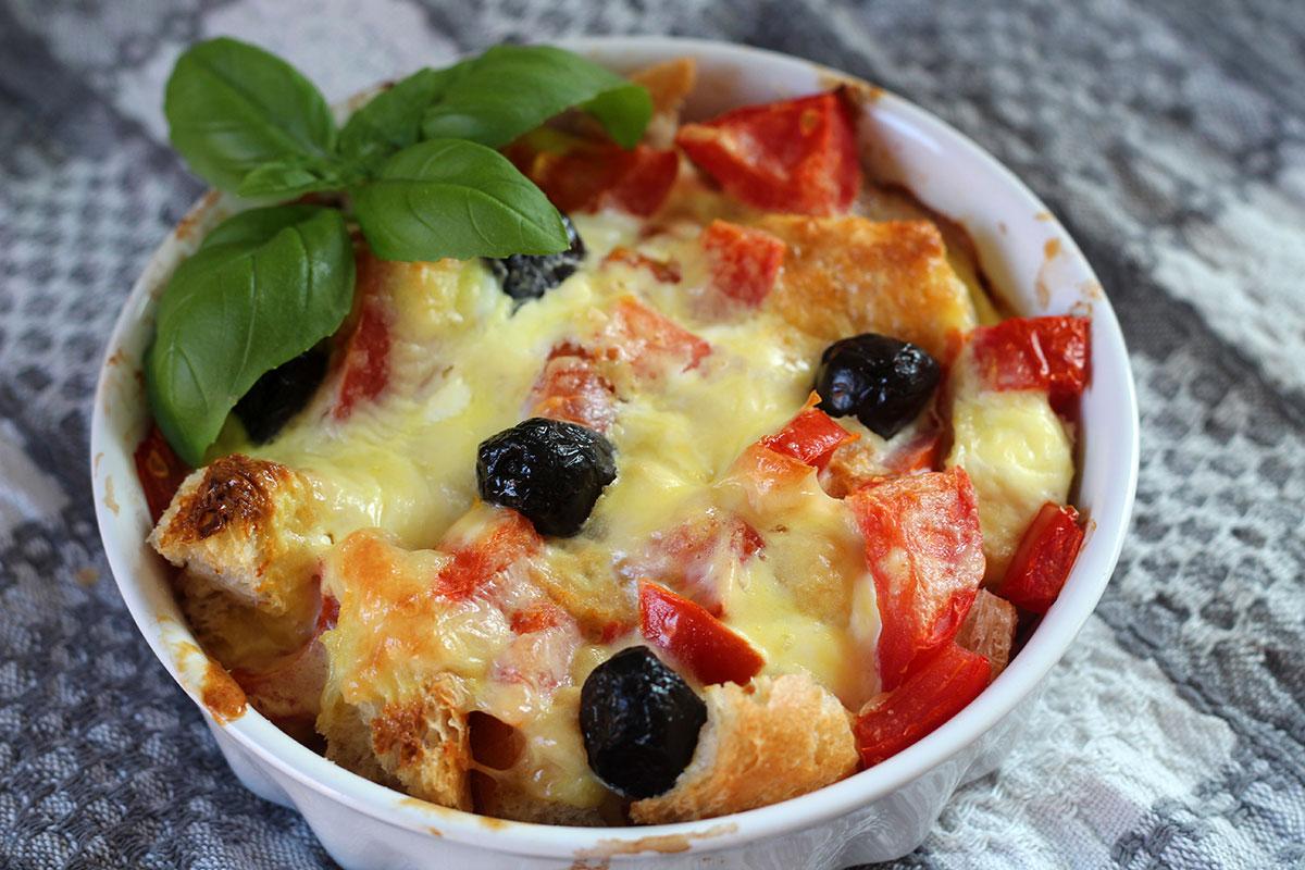 Brødtærte med tomater