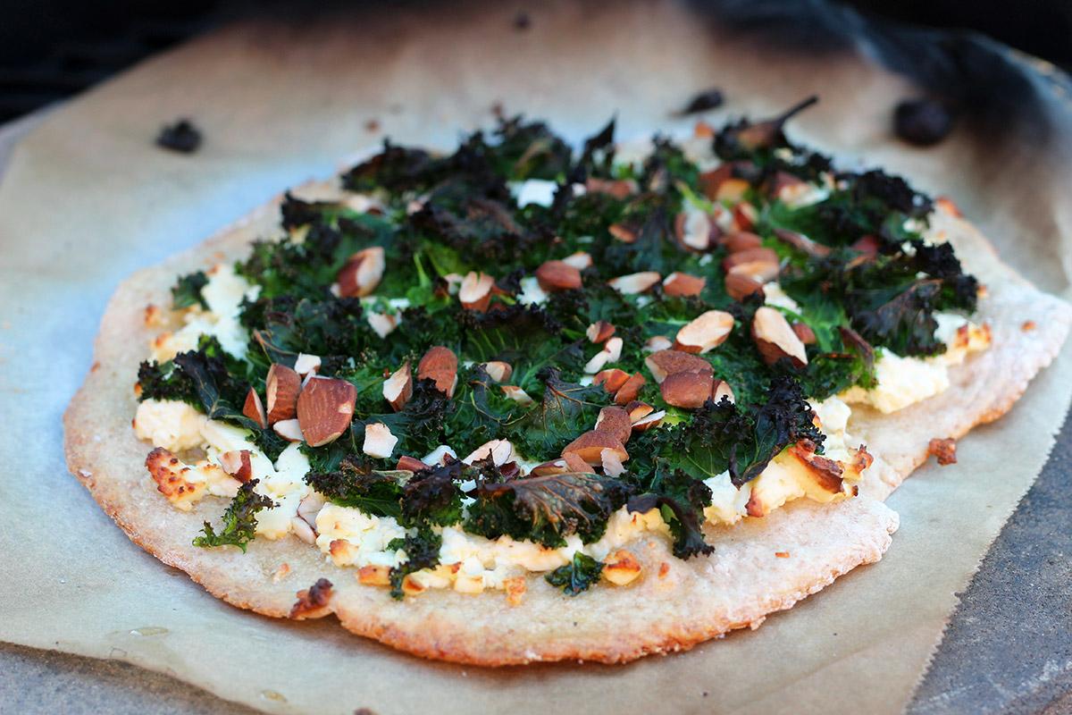 Grønkålspizza med feta
