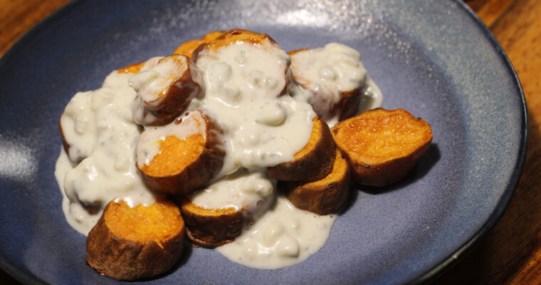 Sweet potatoes med gorgonzolasauce