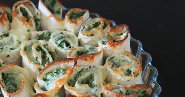 Ostesnacks med spinat