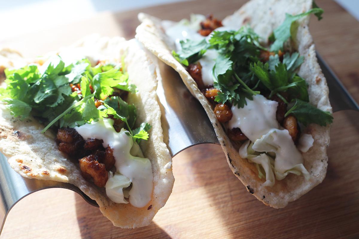 Reje tacos med limecreme